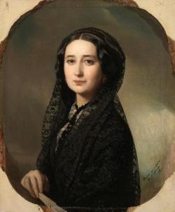 Carolina Coronado, hacia 1855. Federico de Madrazo y Kuntz (1815-1894). Museo Nacional del Prado.