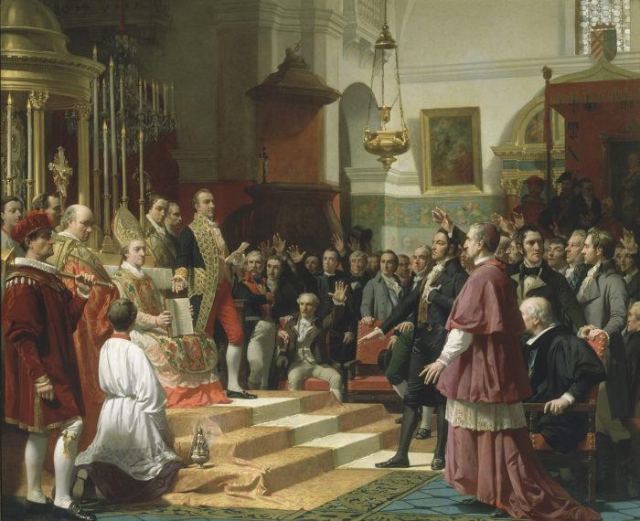 El juramento de las Cortes de Cádiz de 1810, 1861-1862. José Casado del Alisal. Congreso de los Diputados